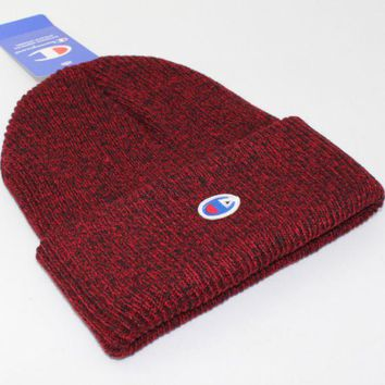 Champion Men's Knit Hat hip hop skateboard hat Red