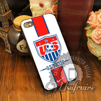 US Soccer World Cup - iPhone 4/4s/5/5s/5c Case - Samsung Galaxy S2/S3/S4 Case - Black or White
