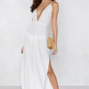 Beaches Rule Maxi Cover-Up Dress
