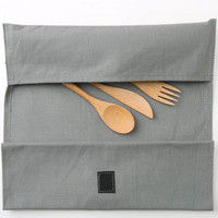 Reuseit Roll Up Bamboo Utensils and Placemat