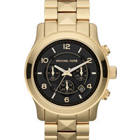 Michael Kors Oversize Golden Stainless Steel Pyramid-Stud Watch