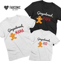 Christmas Family Shirts, Mommy Daddy Baby Christmas Shirts, Gingerbread Family, Christmas Shirts, Matching Christmas Family Shirts