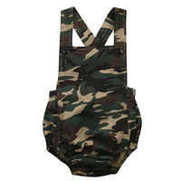 2017 Camouflage Cotton Newborn Baby Boys Girls Romper Jumpsuit Kids Clothes Outfits