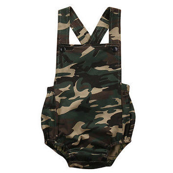 2017 new infant toddler Cotton Newborn Baby Boy Girls Bodysuit Jumpsuit Kids Clothes Outfits 0-18M summer Camouflage