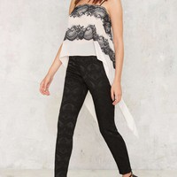 Nasty Gal On Your Trail Embroidered Lace Cami Top