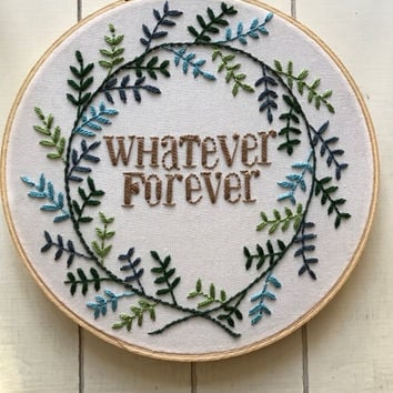 "embroidery hoop | embroidery art | hand embroidery | whatever forever | 8"" hoop 