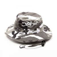 Logo – Bucket Hat – Snow Camo