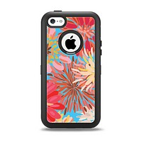 The Brightly Colored Watercolor Flowers Apple iPhone 5c Otterbox Defender Case Skin Set