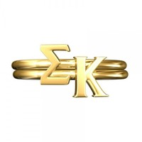 Sigma Kappa Stack Rings | A-List Greek Designs