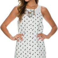 RVCA STREET SEEN SLEEVELESS DRESS