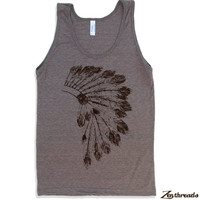 Unisex HEADDRESS Tri Blend Tank Top american apparel XS S M L XL (4 Color Options)