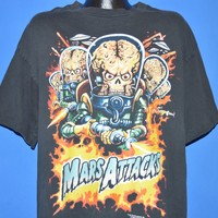 90s Mars Attacks! 1996 Movie Glow In The Dark t-shirt Extra Large
