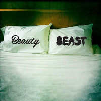Beauty & Beast pillowcase set by dustysandlulu on Etsy