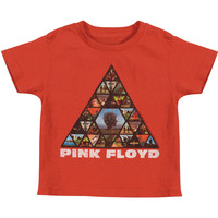Pink Floyd Boys' Album Pyramid Childrens T-shirt Red Rockabilia