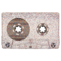 Glitter red, blue and silver blank audio cassette tapes - Retro Style Media