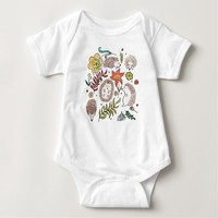 Hedgehog Field Baby Bodysuit