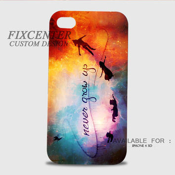 Peter Pan Quote 3D Image Cases for iPhone 4/4S, iPhone 5/5S, iPhone 5C, iPhone 6, iPhone 6 Plus, iPod 4, iPod 5, Samsung Galaxy (S3, S4, S5, S6) by FixCenters