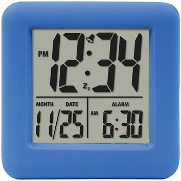 Equity By La Crosse Soft Cube Lcd Alarm Clock (blue)