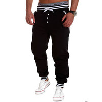 Lisli Men's Harem Joggers Baggy Hip Hop Jogger Clothing Mens Casual Jogger Rock Sweat Pants Male Trousers 01c0114
