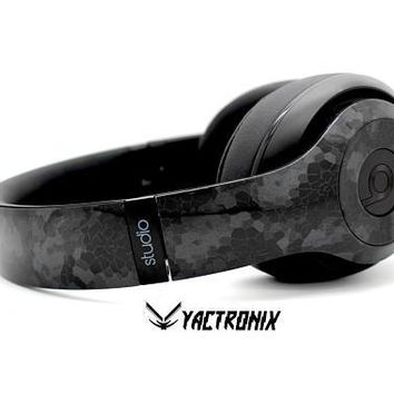Custom Triple Black Hex Beats By Dre Headphones - Bluetooth Studio Headset - Customizable Beats Gift for him - Studio 1.0 Studio 2.0
