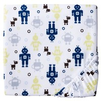 Circo™ Woven Fitted Crib Sheet - Robots