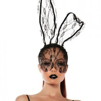 Role Play Lace Bunny Mask