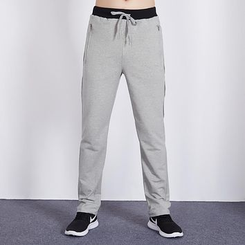 Sported runing long pants Casual Slim Fit Knitted Sweatpants Straight Pant For Men Fashion Solid Trousers Big Size 5XL