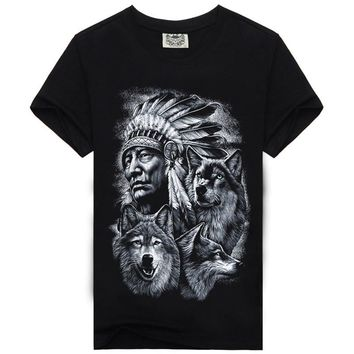 2017 Brand Clothing 3D Indians Print T shirts