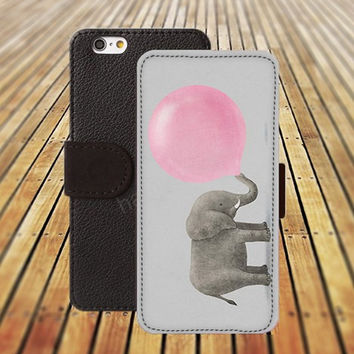 iphone 5 5s case elephant blowing balloons iphone 4/ 4s iPhone 6 6 Plus iphone 5C Wallet Case , iPhone 5 Case, Cover, Cases colorful pattern L118