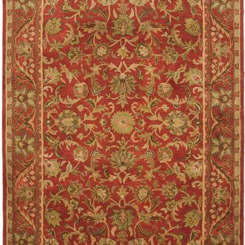 Antiquity Traditional Indoor Area Rug Red / Red