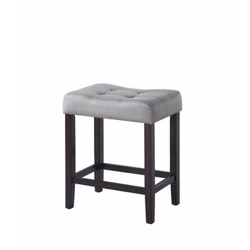 Backless Modern Counter Height Stool, Gray & Brown, Set of 2