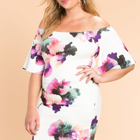 Floral Days Off Shoulder Dress