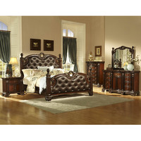 Homelegance Orleans 5 Piece Poster Bedroom Set in Rich Cherry