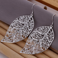 Autumn Leaf Silver Earrings