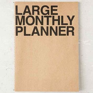 Poketo Large Monthly Planner Notebook- Brown L
