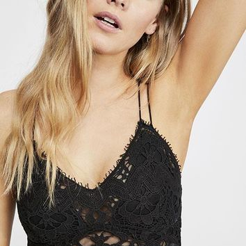 Free People - Black Lace Ilektra Bralet