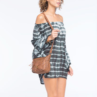 T-SHIRT & JEANS Oil Washed Buckle Crossbody Bag | Handbags