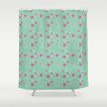 Elsa Frozen Fever Cape pattern Shower Curtain by Studiomarshallarts