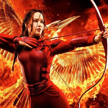 Katniss The Hunger Games girl with bow arrow PRW075 canvas fabric poster wall decor room decor home decoration (frame available)