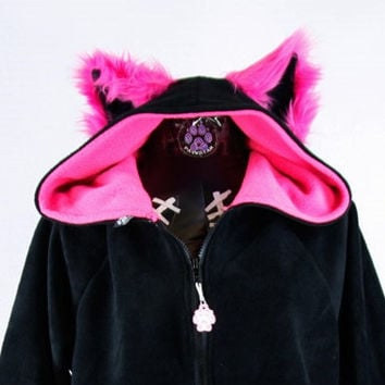 Fluffy Mew kitty hoodie YOU Pick Size Color kigurumi fursuit cat Cosplay costume Anime Animal furry Kitty jacket coat gift apparel 6151