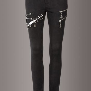 Reckless Studded Skull Pants