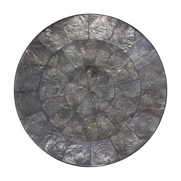 Capiz Placemat in Gunmetal - Set of 4