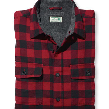 Men's Fleece-Lined Flannel Shirt, Traditional Fit at L.L.Bean