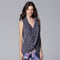 Simply Vera Vera Wang Simply Breathe Space-Dyed Crossover Tank - Women's, Size: