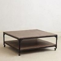 Large Decker Coffee Table by Anthropologie in Neutral Size: One Size Furniture
