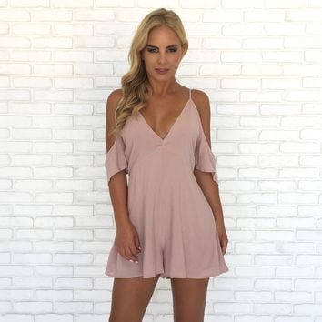 Breath of Fresh Air Romper in Blush Pink