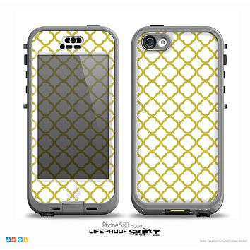 The Yellow & White Seamless Morocan Pattern V2 Skin for the iPhone 5c nüüd LifeProof Case