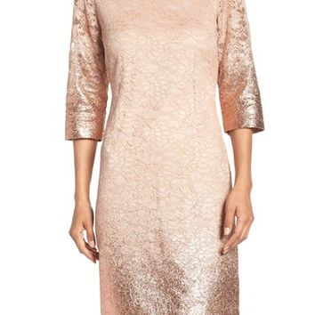 Ivanka Trump Foiled Lace A-Line Dress | Nordstrom