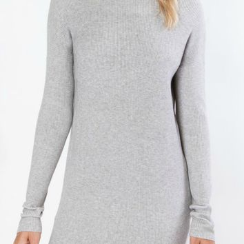 Ryder Tunic Sweater in Heather Grey