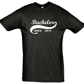 Bachelor since 2014 (Any Year)gift ideas,humor shirts,humor tees,bachelor shirt,bachelor gift,bachelor party shirt,gift for son,brother gift